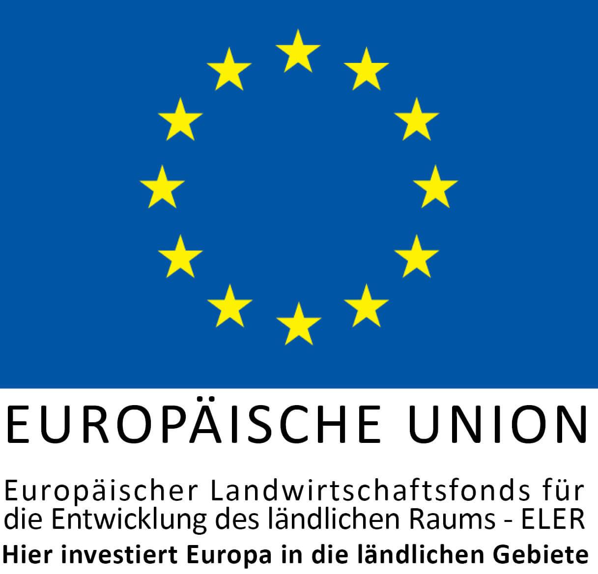 EU Logo: Hier investiert Europa - ELER
